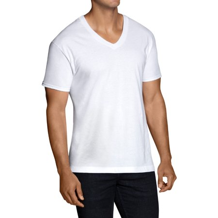 2X White V-Neck Shirt