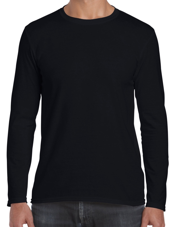 3X Black Long Sleeve Shirt
