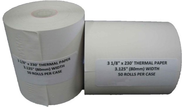 Ruby Thermal Paper 31/8 x 230
