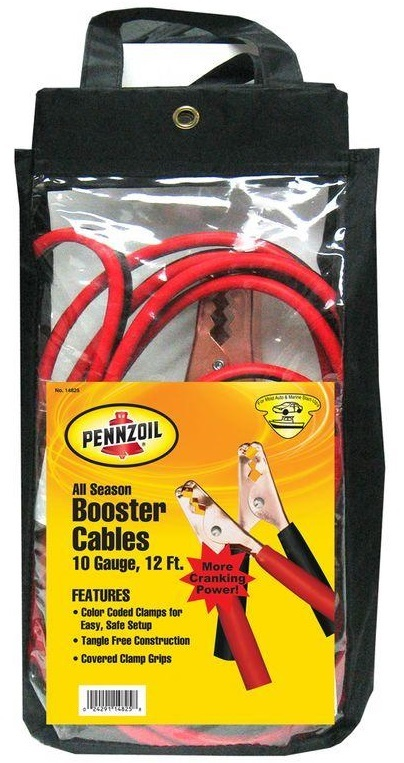 Penzoil 12' ALL Booster Cable 10 Gauge