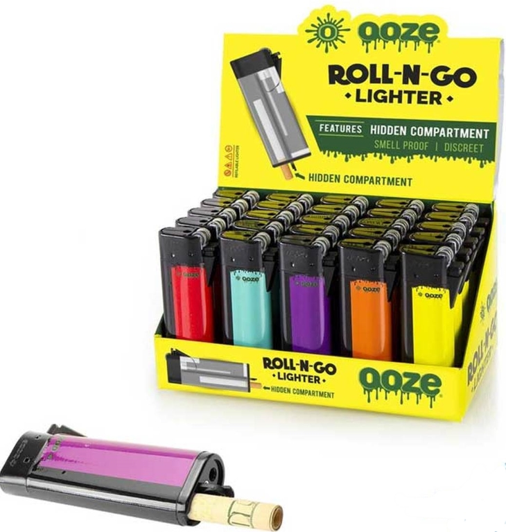 Ooze Roll-N-Go Lighter w/ Compartment