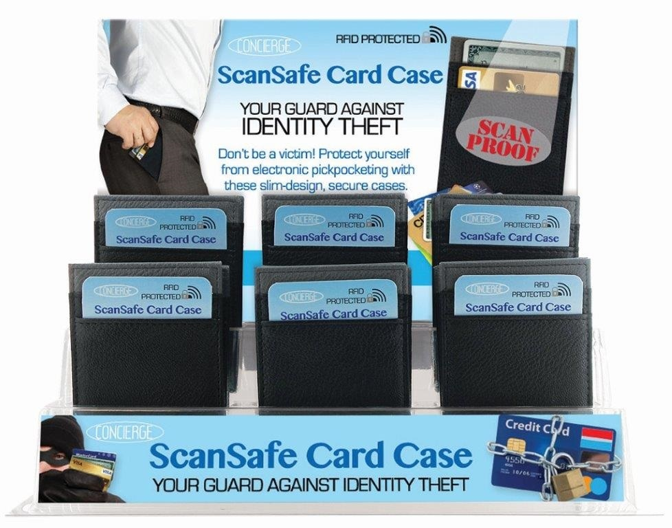 Men's Scan Safe Card Case