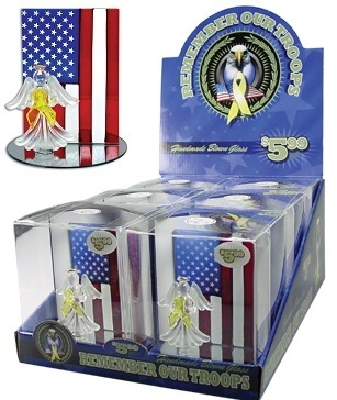 Remember Our Troops Handmade Blown Glass