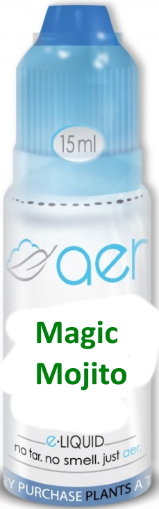 AER 15ml Magic Mojito ejuice 12mg (Med Blue)