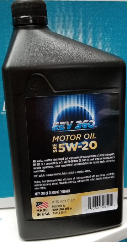 SAE Certified REV Oil 5W20