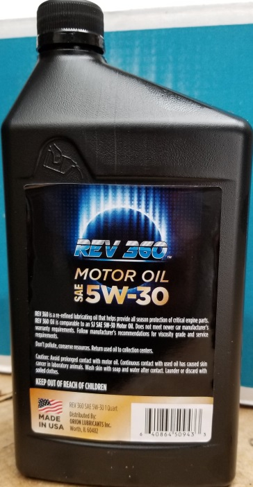 SAE Certified REV Oil 5W30