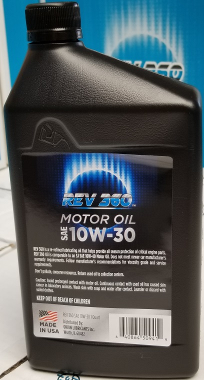 SAE Certified REV Oil 10W30