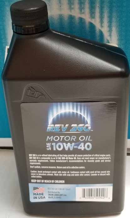 SAE Certified REV Oil 10W40