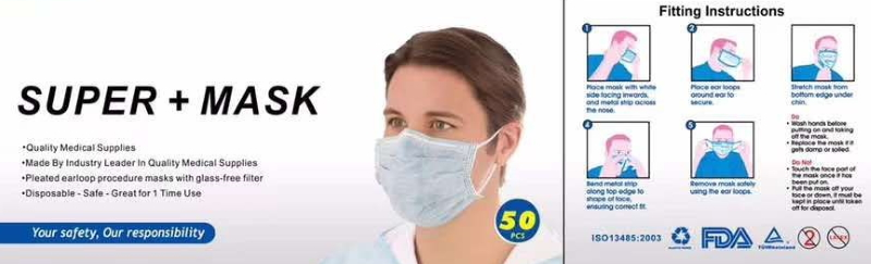 50ct FDA-Approved 3 Layer Mask